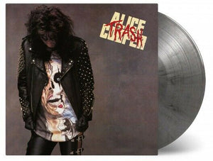 ALICE COOPER Trash LP SILVER & BLACK MARBLED VINYL numbered