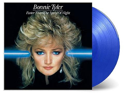 BONNIE TYLER Faster Than The Speed Of Night 1LP Blue Vinyl