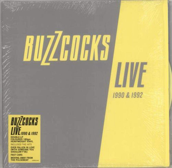 BUZZCOCKS Live 90-92 2LP SILVER/YELLOW VINYL