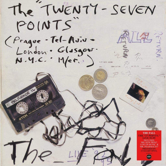 FALL The Twenty-Seven Points: Live 92-95 (Live) (140g Clear Vinyl) 2LP SET