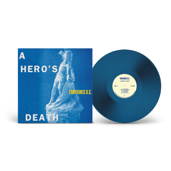 FONTAINES D.C. A Hero's Death LP Limited Edition Stormy Blue Vinyl