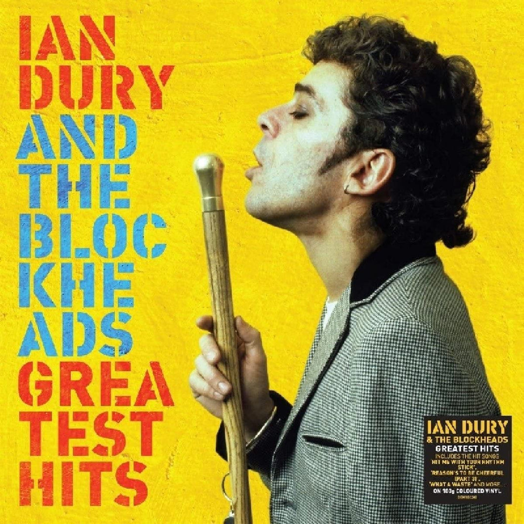 IAN  DURY AND THE BLOCKHEADS Greatest Hits LP YELLOW VINYL
