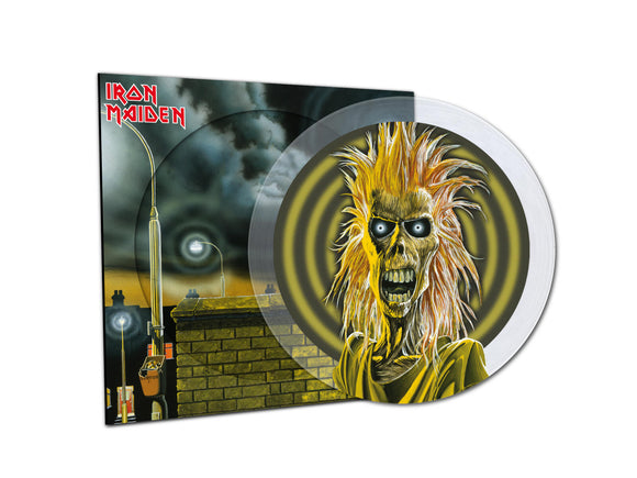 IRON MAIDEN Iron Maiden LP LIMITED EDITION CRYSTAL CLEAR PICTURE DISC (NAD20)