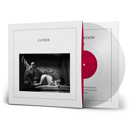 JOY DIVISION Closer 40th Anniversary LP CLEAR VINYL