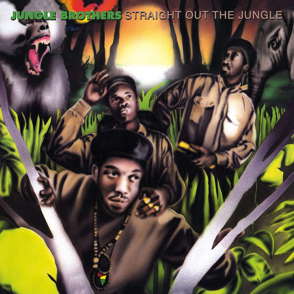 JUNGLE BROTHERS Straight Out The Jungle 2 LP set RED/GREEN VINYL