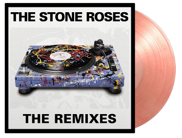 STONE ROSES The Remixes 2LP SET LIMITED EDITION OF 3000 NUMBERED COPIES ON TRANSPARENT & RED SWIRLED VINYL