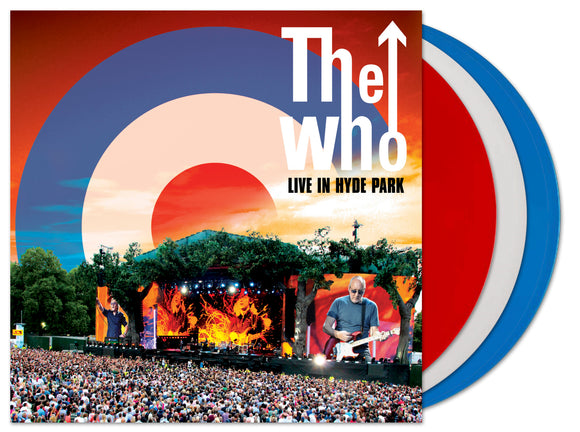 WHO – Live At Hyde Park 2015 3LP RED/BLUE/WHITE VINYL