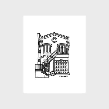 South End Carriage House Print
