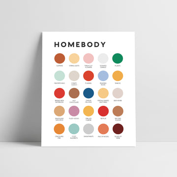 Homebody Color Palette Print