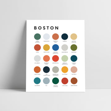 Boston Color Palette Print