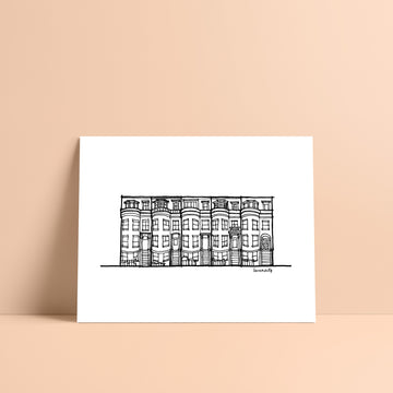 Boston Row House Print I