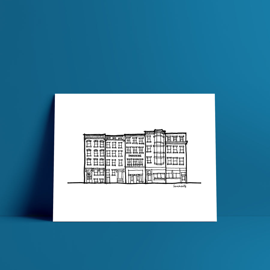 Boston Row House Print II