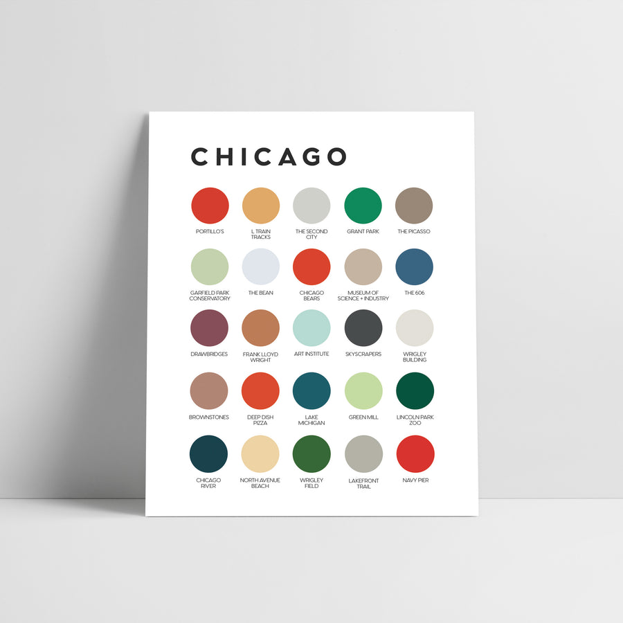 Chicago Color Palette Print