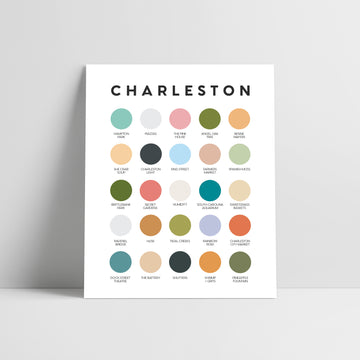 Charleston Color Palette Print