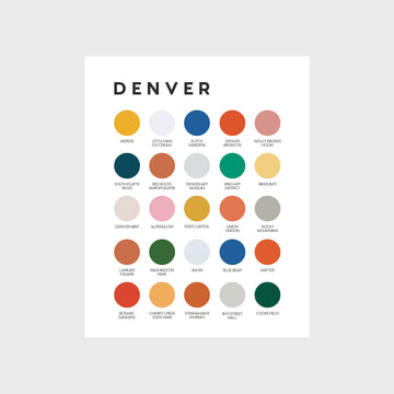 Denver Color Palette Print