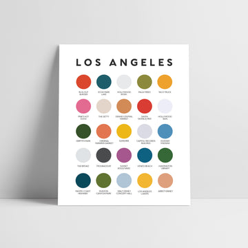 Los Angeles Color Palette Print