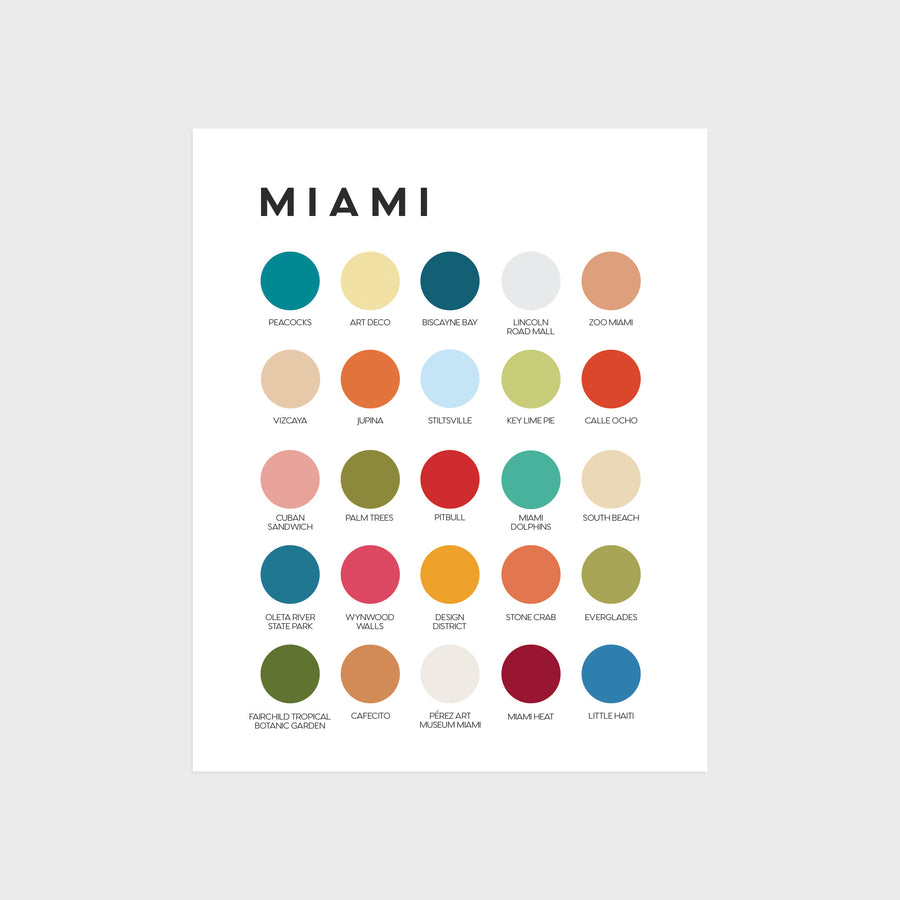 Miami Color Palette Print