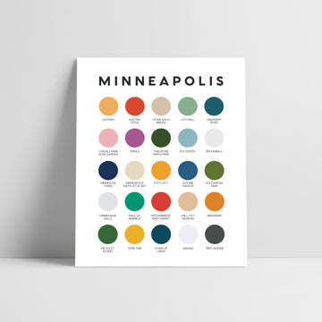 Minneapolis Color Palette Print