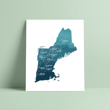 New England Map Print