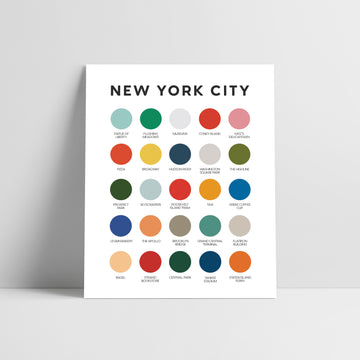 New York City Color Palette Print