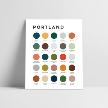 Portland, Maine Color Palette Print