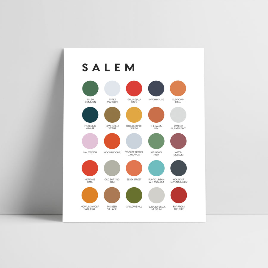 Salem Color Palette Print