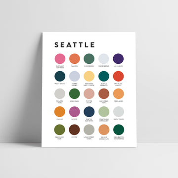 Seattle Color Palette Print