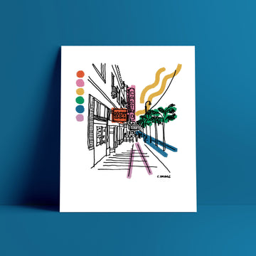 San Francisco Rainbow Print