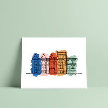 Washington DC Row House Print