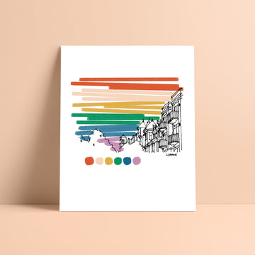 Washington DC Rainbow Sky Print