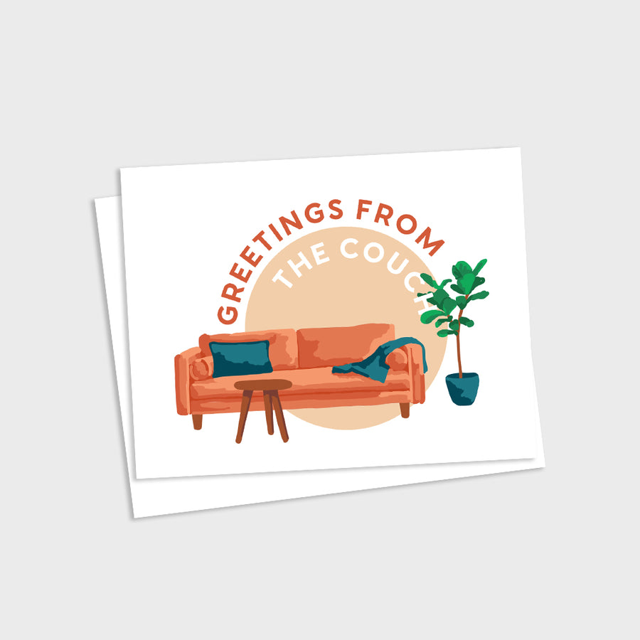 Greetings from the Couch Card