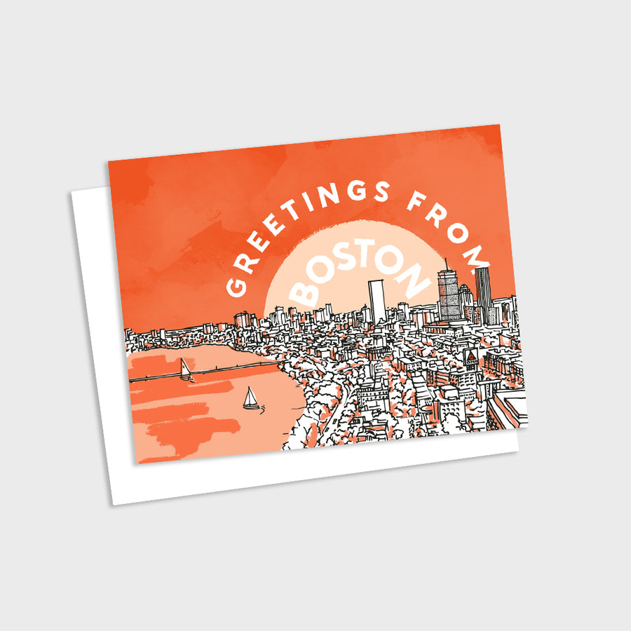Greetings from Boston Card