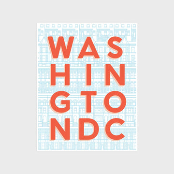 Washington DC Typography Print