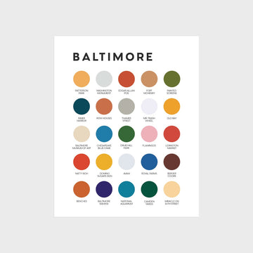 Baltimore Color Palette Print