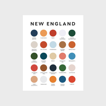 New England Color Palette Print