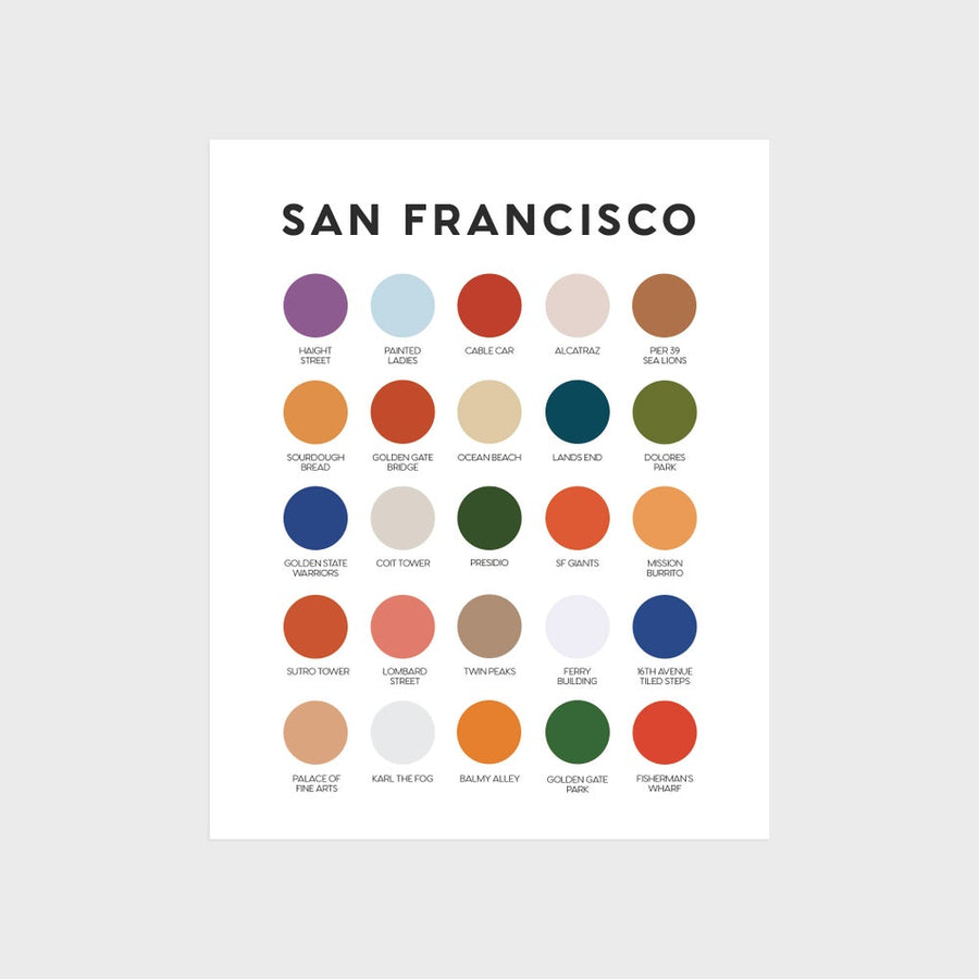 San Francisco Color Palette Print