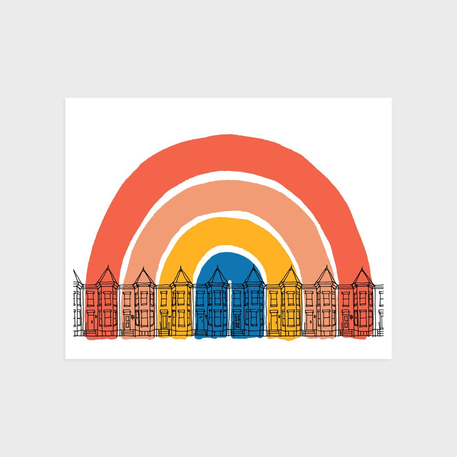 Washington DC Rainbow Print