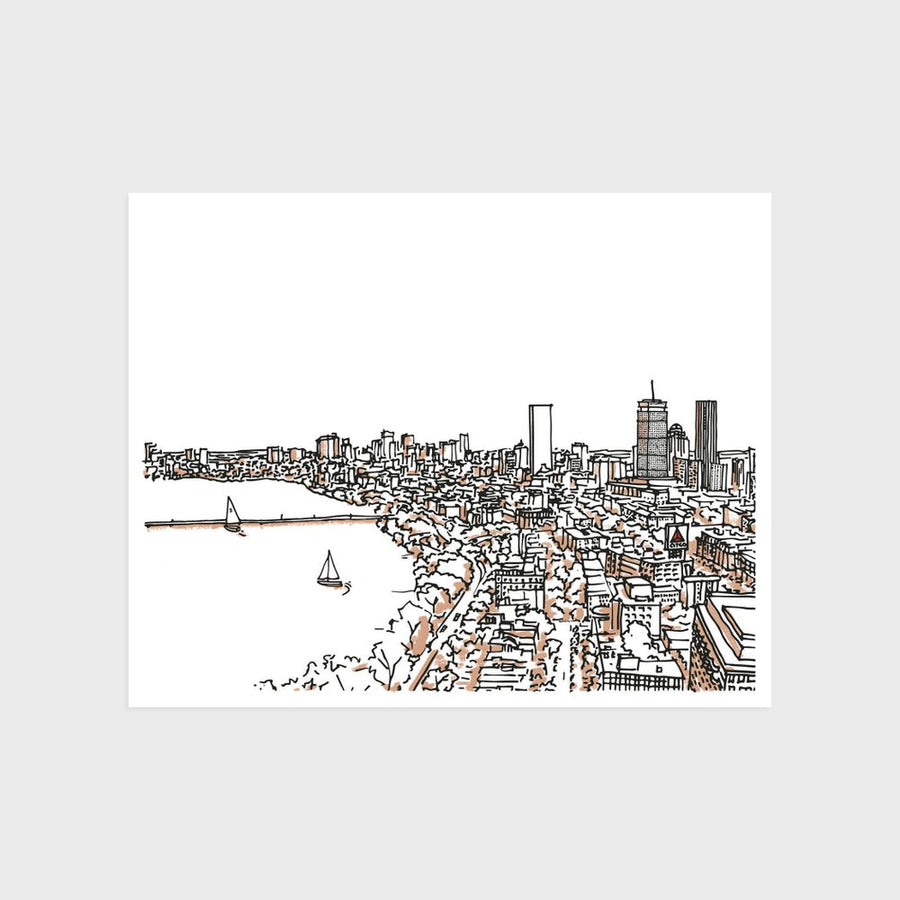 Boston Back Bay Skyline Print
