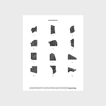 Washington DC Neighborhood Maps Print