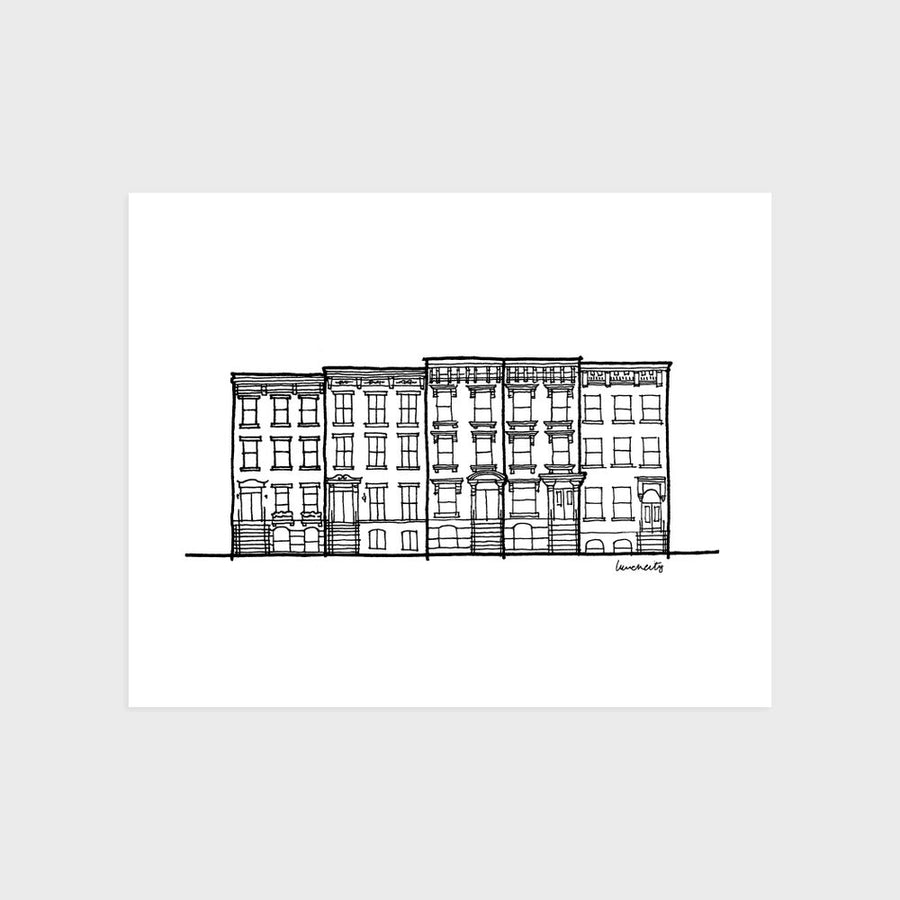 New York City Row House Print
