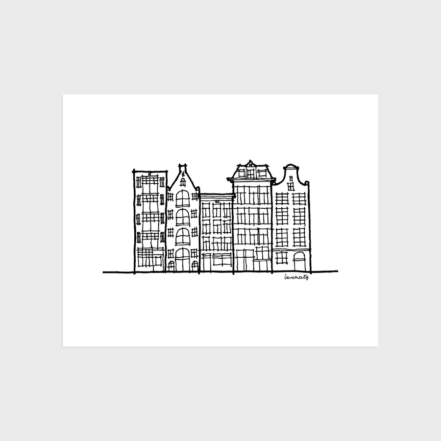 Amsterdam Row House Print