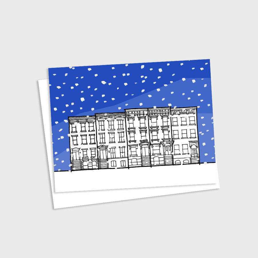 Brownstone Winter Card