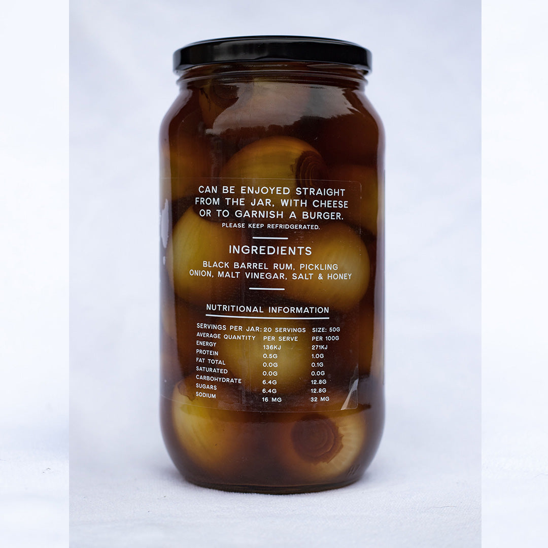 Black Barrel Rum & Honey Pickled Onions 1 KG