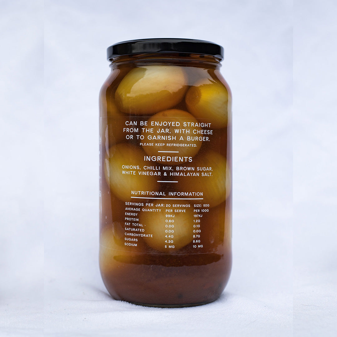 Hot Pickled Onions 1 KG