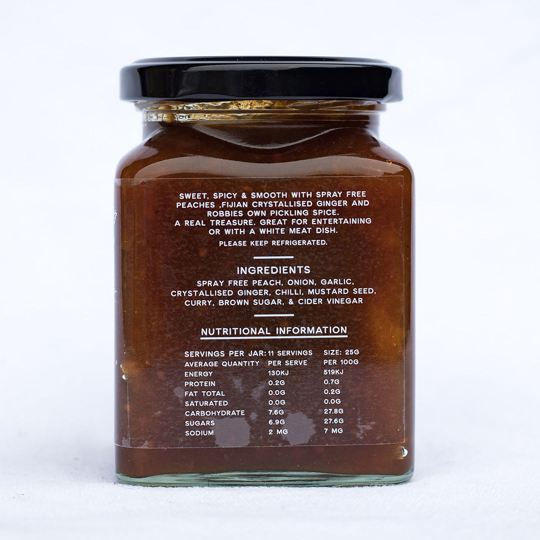 Peach & Ginger Chutney 270gm