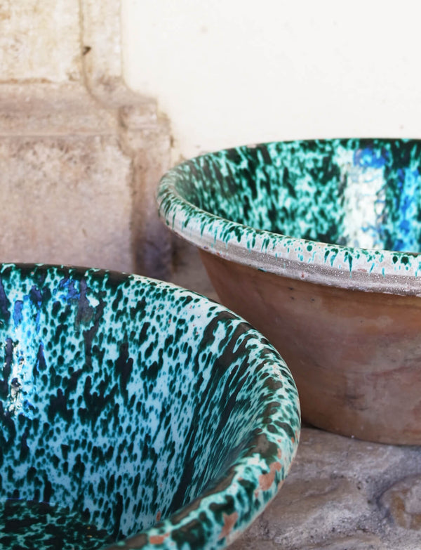 Pair Large and Extra-Large Tuscan Bowls