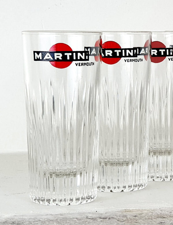 Six Original Martini Glasses