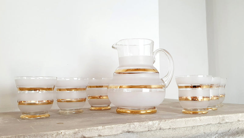 Venini Art Deco Jug and Glasses Set