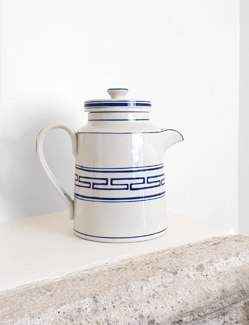 1950s Hand Painted Ceramic Water Jug