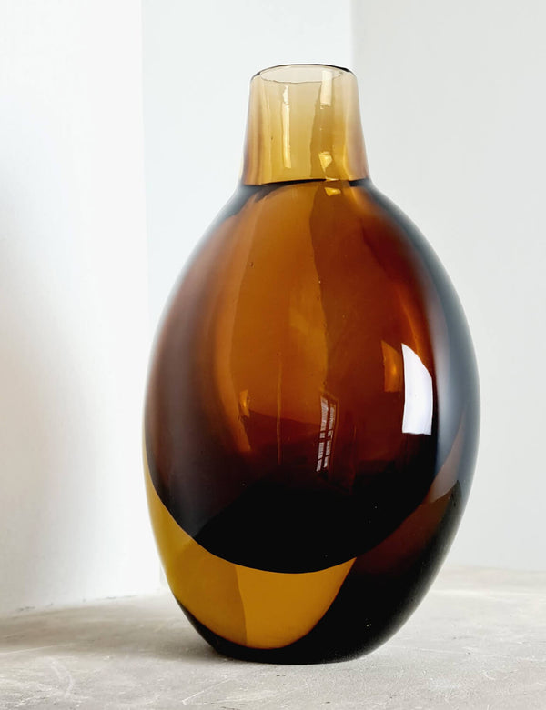 1960s Brown & Amber Seguso Vase